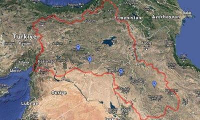 Google maps güneydoğuyu kürdistan olarak gösterdi