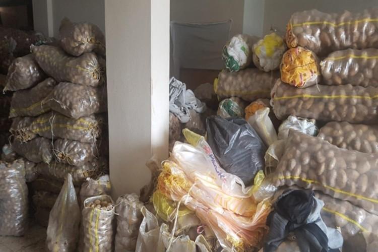 Stokçu Baskınından 35 Ton Patates Çıktı