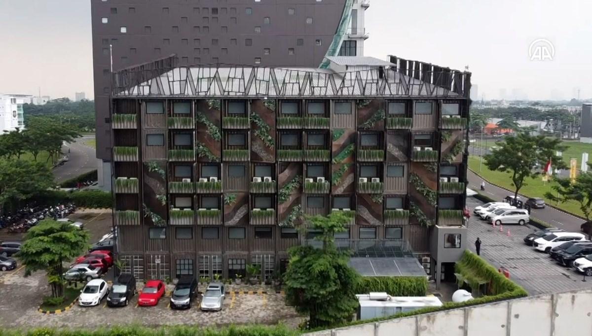 Endonezya'da konteyner otel: Beton kullanılmadı