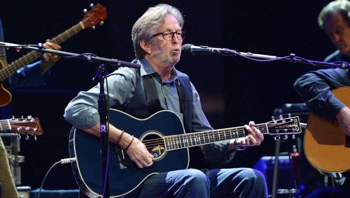 Eric Clapton'dan aşı karşıtı gruba bağış